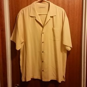 Men's short sleeved shirt, 100% Silk